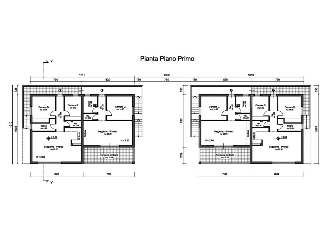 Planimetrie appartamenti in vendita piombino for Planimetria appartamento
